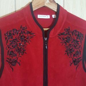 Susan Graver Fleece Vest w Embellishments L